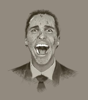 American Psycho - Christian Bale by juliancelaj