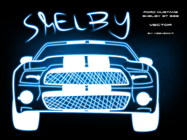 Shelby glowing vector by azevedo9