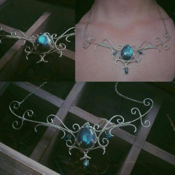 [finished] magical stag necklace  by SophiaKanthak