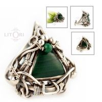 SPIRIT ANTIQUE- silver ring by litori