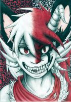The white and red dragon-fox by ElisaUchihaRota