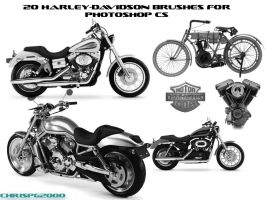 Harley-Davidson Brushes by chrispg2000