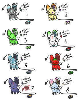 portable mouse speaker adopts by Dawnkitty