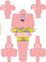 Patrick Star paper toy by fumblies