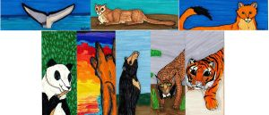 Endangered Species Bookmarks 2 by Hyena27