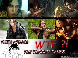 Troll Tomb Raider X The Hunger Games by Zellphie