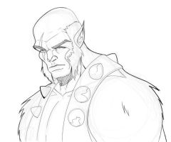 Panthro Bust by blaquejag