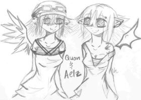 Aelz y Quon by Quon-chan