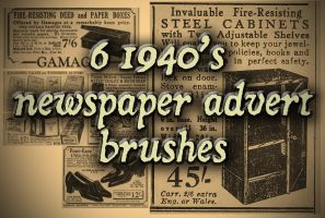 6 Newspaper Advert Brushes, Sept 1940 by NightstreetDreamer