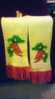 Golden Harvest/Carrot Top Scarf by mandydax