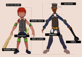 The Monster Boys: Costume References by HotCyder