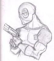 Deadpool Sketch by titanstargirl