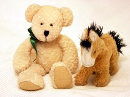 stock teddy + horse plush toy 01 by Nexu4