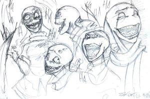Saik's laugh sketches by InvaderSaik