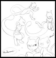 _.Mewtwo Sketches._ by Metros2soul