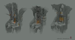 Underground Drow Temple of Lolth by Vaejoun