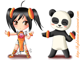Ling Xiaoyu and Panda by Hyldenia