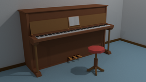 Low Poly Piano by Tohmis
