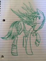 Cyborg Twilight (rough sketch) by NicoTheMintyRabbit