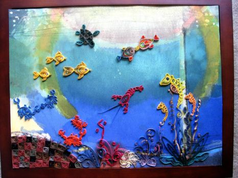 Sea Animals Fantasy-Quilling by eidatwong