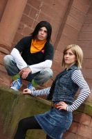 C17 and C18 Dragonball Cosplay by awesome-Kathi
