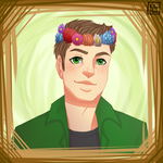 Dean with flower wreath [Supernatural] by killuhime
