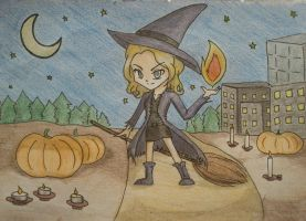 Halloween Witch by GoldyGV