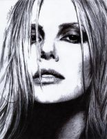 Charlize Theron by justinsdrawings