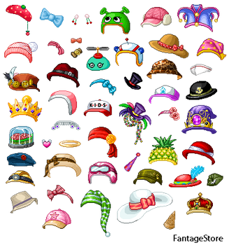 Hat/Accessories Pack (female) #1 by FantageStore