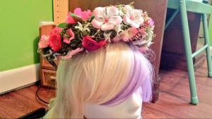 Pink Sugar Flower Crown *for sale* by princess-haru44