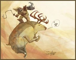 "mounted:02 ""paindeer"" by jouste"