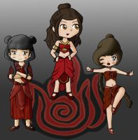 Ozai's Angels party by Shingery