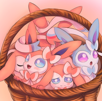 Cuties in a basket by Joltik92