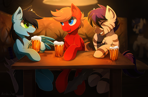 Bar meeting by hioshiru-alter