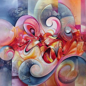 Smoothie abstract painting by Amytea