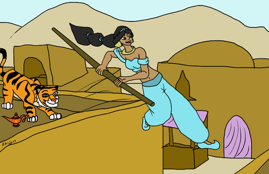 Jumping over Rooftops - Contest entry by RM-Keyblade-Mistress