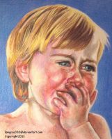 Crying Baby 2  of 4     Colored Pencil by lemgras330