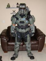 Halo reach foam armor test fitting by Hyperballistik