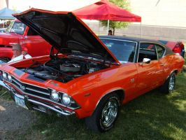 cherry red chevelle by rustyoldmodels
