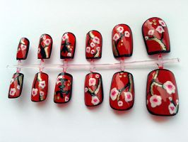Cherry Blossom Nails by nail-artisan