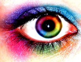 technicolor eyes. by WOULDYOUBURYME