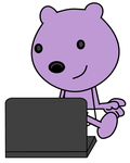 Baby Walden using a laptop by dev-catscratch
