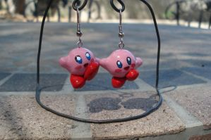 Kirby Earrings by ArtNinja101