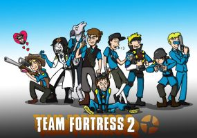 Blu Team TF2CG by mordacaiMT