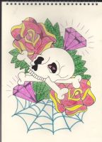 Skull and Roses by Stephen-Parry