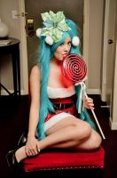 Miku Christmas Lollipop by Ani-Mia