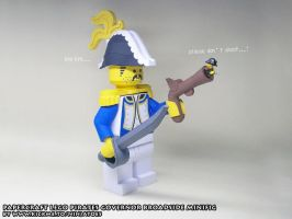 Papercraft LEGO Governor Broadside + Redbeard fig by ninjatoespapercraft