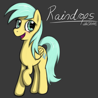 Raindrops Pony Sketch by ABluSkittle