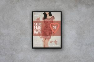 Valentines Day - Flyer / Poster Template by macrochromatic