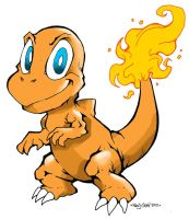 Pokemon Number 4: Charmander by Kenji-Seay